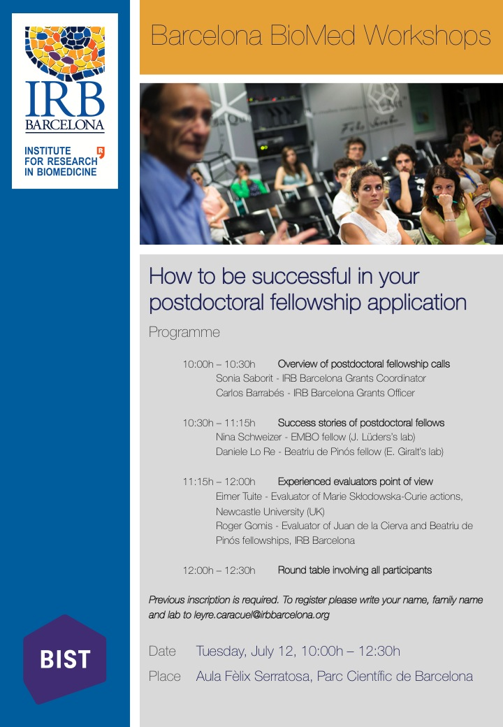 How to be successful in your postdoctoral fellowship